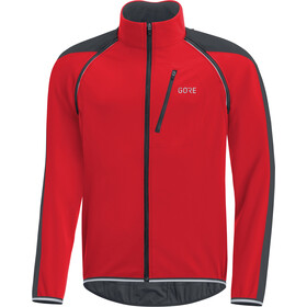 GORE WEAR C3 Windstopper Phantom Zip-Off Jacket Herrer, red/black